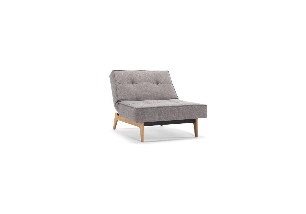 Stoel Verstelbare Rugleuning : Splitback stoel eik in grijs showmodel u innostore outlet